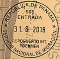 Panama Entry Passport Stamp, 2018.jpg