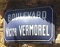 Panneau du boulevard Victor Vermorel (Villefranche-sur-Saône).jpg