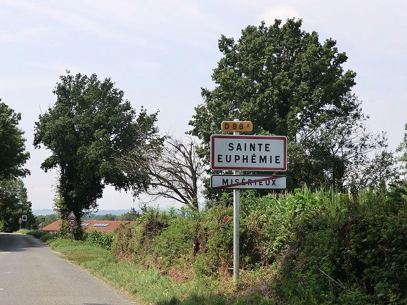Panneau entrée Sainte-Euphémie.