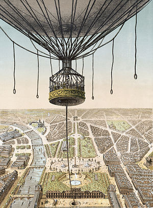 La Madeleine, Paris - La Madeleine on the right in this poster advertising the Exposition Universelle (1878)