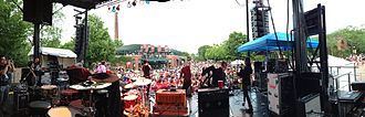 The Super Happy Fun Club - Panorama of The Super Happy Fun Club performing at the Lincoln Park Zoo, 6-22-2013