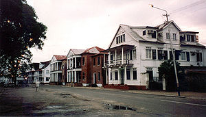 Colonial style houses, Waterkant, Paramaribo