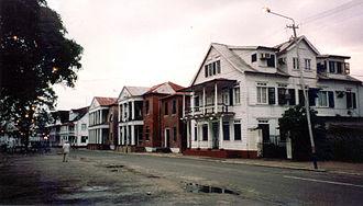 Paramaribo - Colonial style houses, Waterkant, Paramaribo