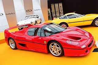 Italian flagship sports car, successor to the F40 produced by Ferrari from 1995–1997