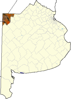 location of General Villegas Partido in Buenos Aires Province