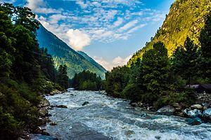 Parvati River (Himachal Pradesh) - Image: Parvati Valley river kasol