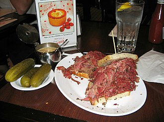 Pastrami - Pastrami sandwich at the Carnegie Deli in New York City.