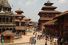 Patan Durbar Square has many buildings, mostly temples, built in the Pagoda style, and a couple of temples of Shikhara architecture showcasing the pinnacle of Nepali wood-, stone- and metal-craft.