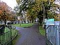 Path fork in Treherbert Park, Treherbert (geograph 6040061).jpg