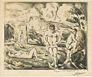 Paul Cézanne, The Bathers (Large Plate), 1896-1897, NGA 57432.jpg