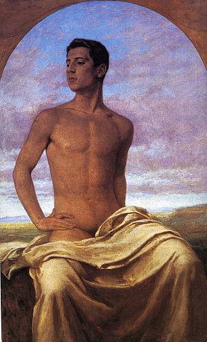 Jacques d'Adelswärd-Fersen - Nino Cesarini, lover of Adelswärd-Fersen, painted by Paul Hoecker (1904)