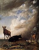 Paulus Potter - Cattle and Sheep in a Stormy Landscape - WGA18200.jpg