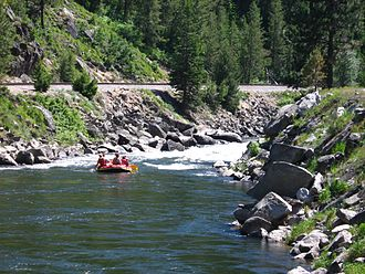 Idaho State Highway 55 - Rafters on the Payette River, near Banks