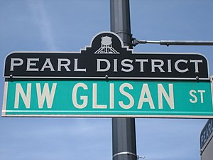 Pearl District, Portland, Oregon - Image: Pearl District NW Glisan St
