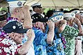 Pearl Harbor survivors salute during a Pearl Harbor 71st anniversary commemoration at the World War II Valor in the Pacific National Monument in Pearl Harbor, Hawaii 121207-N-XD424-064.jpg
