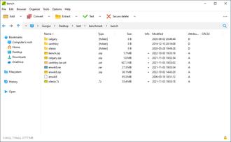 PeaZip - Image: Peazip screenshot