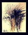 Pedro Meier chinesische Tuschemalerei, Mischtechnik und Federkiel, mehrfarbig. Nr. 36, 40×30 cm, 2015. Foto © Pedro Meier Multimedia Artist.jpg