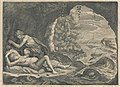 Peleus and Thetis in the cave Engraving from Les Métamorphoses d'Ovide, F. Foppens, Bruxelles 1677.jpg