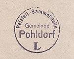 Pelzfell-Sammelstelle Gemeinde Pohldorf (Stempelabdruck).jpg