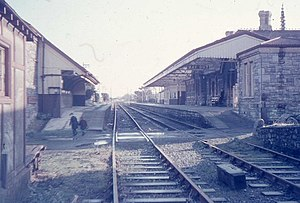 Pembroke Dock railway station - January 1968