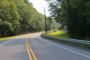 Pennsylvania Route 225 - PA 225 south in Jackson Township, Northumberland County