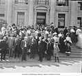 Pennsylvania delegation standing on the steps of the Fine Arts Building, Alaska-Yukon-Pacific-Exposition, Seattle, Washington (AYP 1246).jpeg