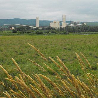 Penobsquis, New Brunswick - Potash mine in Penobsquis. headframes.