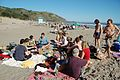 People celebrating on Stinson Beach.jpg