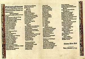 Franconian War - List of people of the salaried nobility from the Bamberg Castle Book