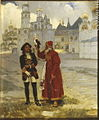 Peter I with falcon by K.Lebedev (1900s, Glinka museum).jpg