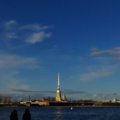 Peter and Paul Fortress. View across the Neva River.png