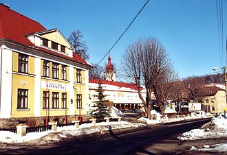 Petrovice (Ústí nad Labem District) - Center of the village with the municipal office