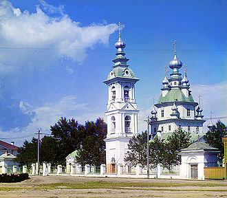 Petrozavodsk - A church in Petrozavodsk, as photographed ca. 1912 by Sergey Prokudin-Gorsky