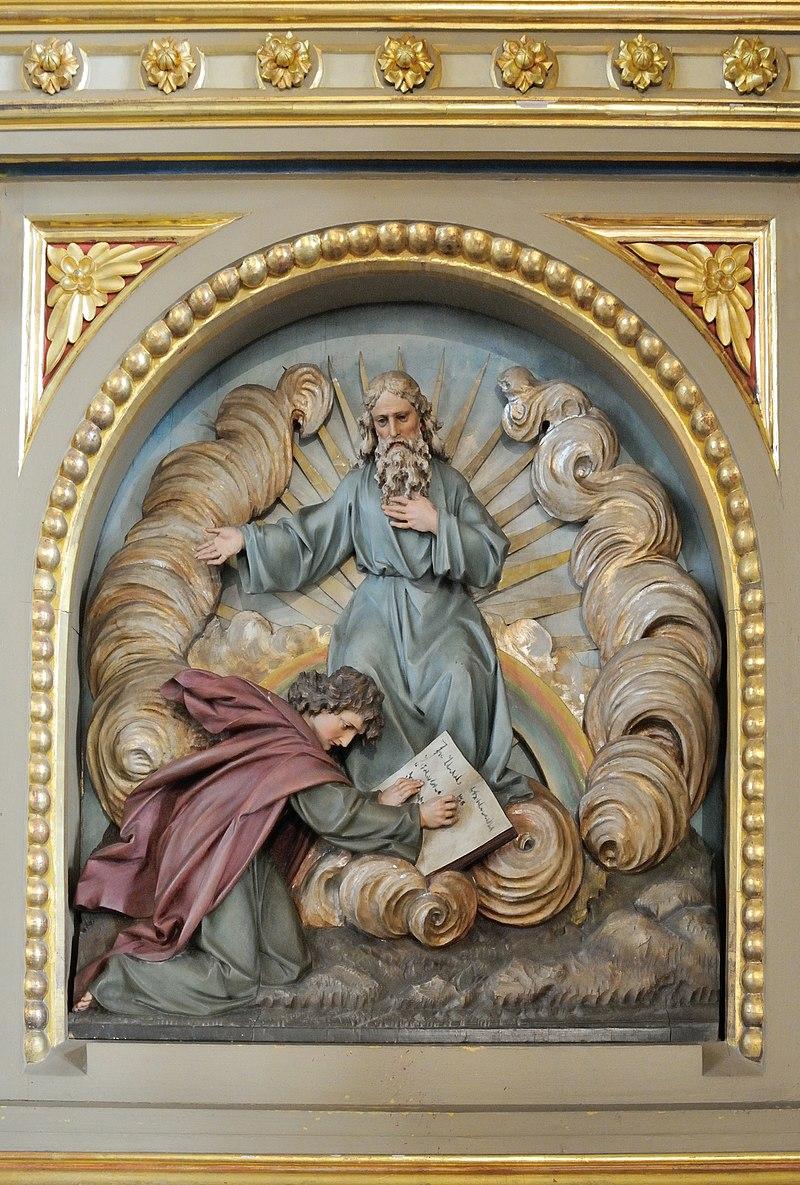 Pfarrkirche St Ulrich Urtijei Saint John evangelist Patmos.jpg