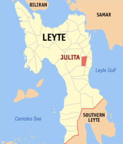 Map of Leyte with Julita highlighted