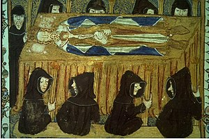 Lying in state - Philip IV of France lying in state