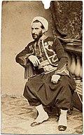 Photo-carte d'Auguste Henri Jacob en 1867.