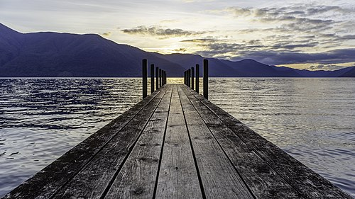 Pier by Sabine Hut 16-9, Nelson Lakes National Park