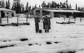 Snow in Israel - Snow at Kibbutz Gan Shmuel, 1950