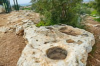 PikiWiki Israel 53368 rock niches for the production of olive oil.jpg