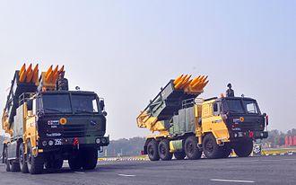 Pinaka multi-barrel rocket launcher - Pinaka MBRL