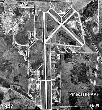 McCoy Air Force Base - 1947 aerial photo of Pinecastle Army Airfield