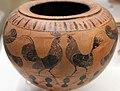 Pittore del louvre, dinos prodotta a cerveteri da arigiani ionici, con uomini, sfingi e galli, 530-520 ac ca., dalla tomba I alla banditaccia 03.jpg