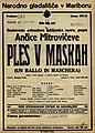 Plakat za predstavo Ples v maskah v Narodnem gledališču v Maribor 18. marca 1928.jpg
