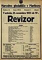 Plakat za predstavo Revizor v Narodnem gledališču v Mariboru 25. novembra 1922.jpg