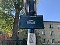 Plaque Avenue Thalie - Pantin (FR93) - 2021-04-27 - 2.jpg
