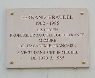 Fernand Braudel French historian and a leader of the Annales School