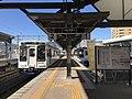 Platform of Sasebo Station (Matsuura Railway) 2.jpg