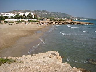 Alcossebre - Alcossebre, view of the beach known as Platja del Moro