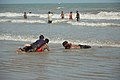 Playful People with Sea Waves - New Digha Beach - East Midnapore 2015-05-01 8713.JPG
